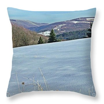 Throw Pillow featuring the photograph Snow In The Valley by Christian Mattison