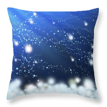 Snow In The Wind Throw Pillow