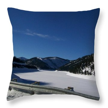Snow Lake Throw Pillow