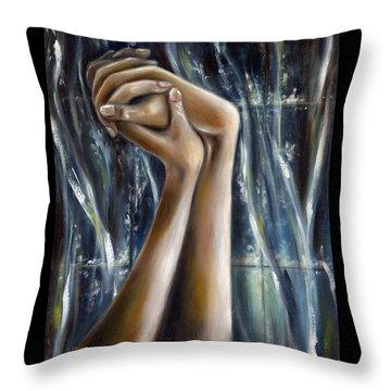 Throw Pillow featuring the painting Snow Light by Hiroko Sakai