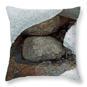 Snow Melt 1 Throw Pillow