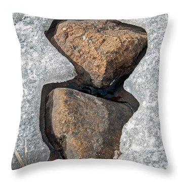 Snow Melt 2 Throw Pillow