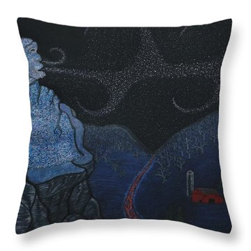 Snow Old Man Winter Throw Pillow by Gerald Strine
