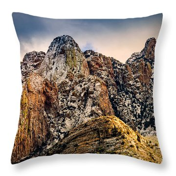 Throw Pillow featuring the photograph Snow On Peaks 45 by Mark Myhaver