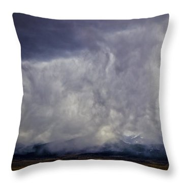 Snow On The Rockies Throw Pillow by Greg Reed
