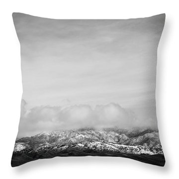 Snow On The Tehachapis Throw Pillow