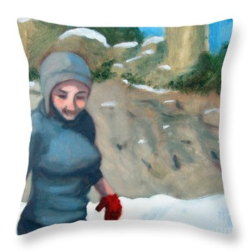 Snow On Windy Point Throw Pillow