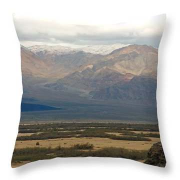 Throw Pillow featuring the photograph Snow Peaks by Stuart Litoff