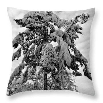Snow Pillows Throw Pillow