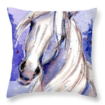 Snow Pony 3 Throw Pillow