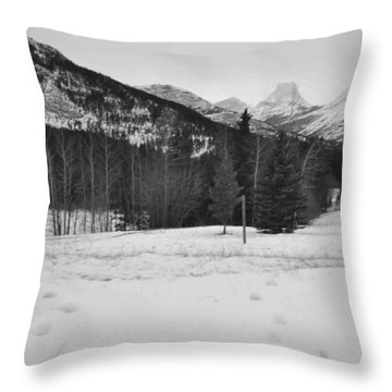Snow Prints Throw Pillow by Cheryl Miller