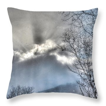 Throw Pillow featuring the photograph Snow Rays by Craig T Burgwardt