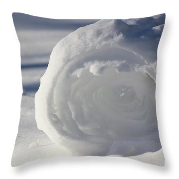 Snow Roller In Late Afternoon Throw Pillow