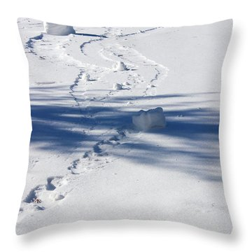 Snow Rollers Throw Pillow