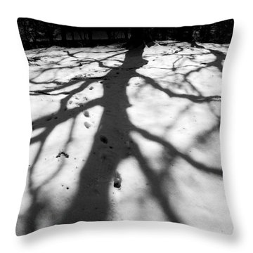 Snow Shadows Throw Pillow
