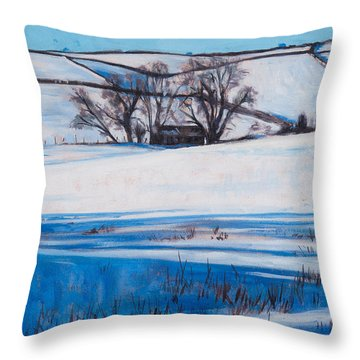 Snow Shadows Throw Pillow by Tilly Willis