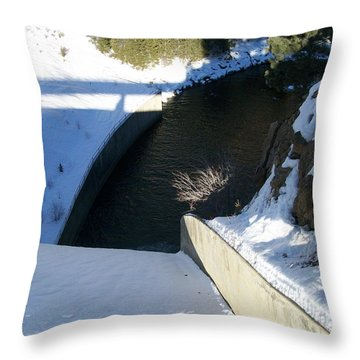 Snow Slide Throw Pillow