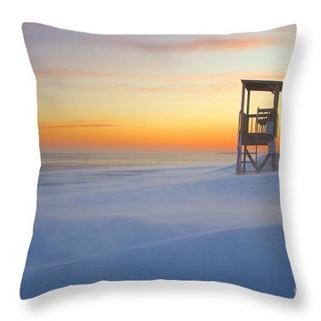 Throw Pillow featuring the photograph Snow Smoke by Amazing Jules