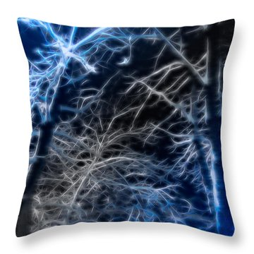 Snow Spikes Throw Pillow