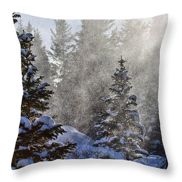 Snow Squalls Throw Pillow by Jim Garrison