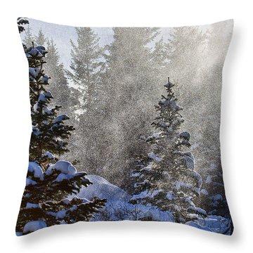 Snow Squalls Throw Pillow by Jim Garrison