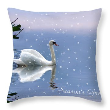 Snow Swan II Throw Pillow
