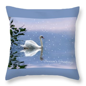 Snow Swan  Throw Pillow
