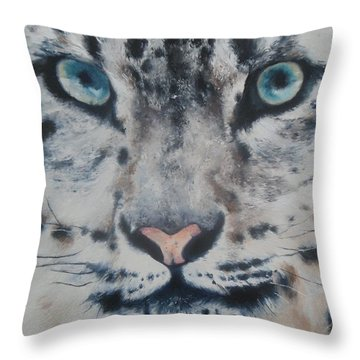 Snow Tiger Throw Pillow by Cherise Foster