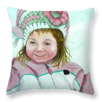 Snow Time Throw Pillow by Terry Honstead
