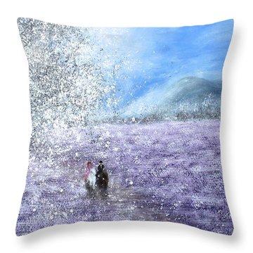Snow Tree Throw Pillow by Kume Bryant