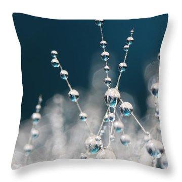 Snow White And Ice Blue Throw Pillow