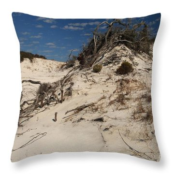 Snow White Dunes Throw Pillow by Adam Jewell