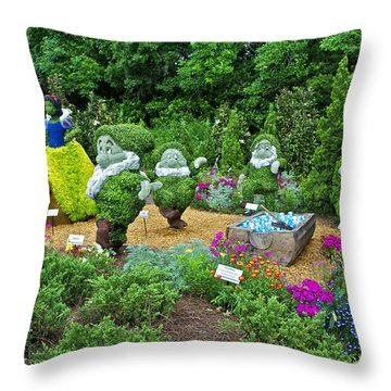Snow White Throw Pillow by Thomas Woolworth