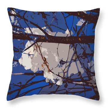 Snowball Throw Pillow by Carol Lynch