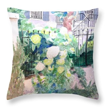 Snowballs In Summer Throw Pillow