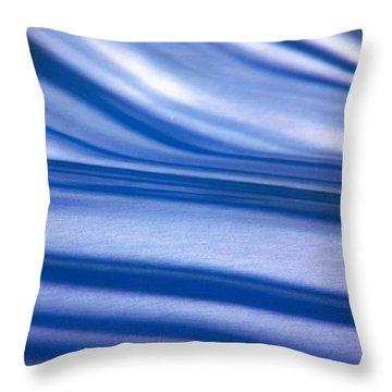 Snowbank At Night Throw Pillow by Susan Crossman Buscho