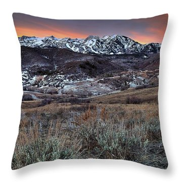 Snowbasin Fire And Ice Throw Pillow