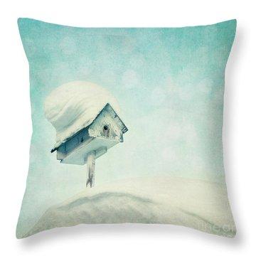 Snowbird's Home Throw Pillow by Priska Wettstein