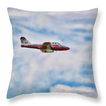 Snowbirds Number 9 Throw Pillow by Cathy  Beharriell