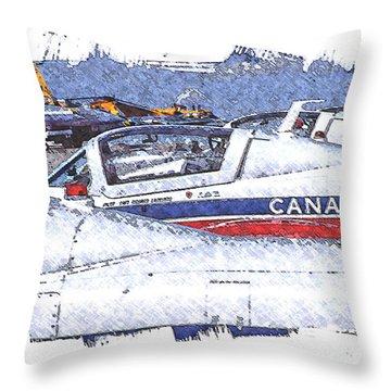 Snowbirds Throw Pillow by Richard Farrington