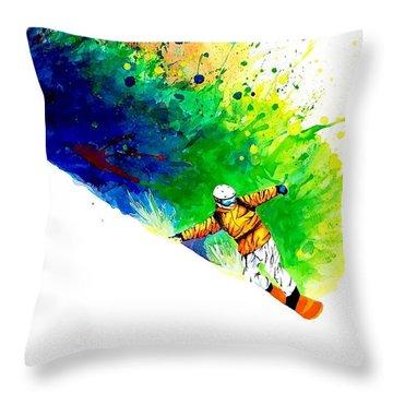 Snowboarder 1 Throw Pillow