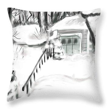 Snowbound Throw Pillow by Jean Pacheco Ravinski