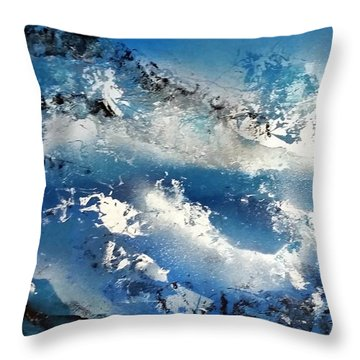 Snowcaps Throw Pillow