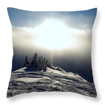 Snowcloud Sunburst Throw Pillow