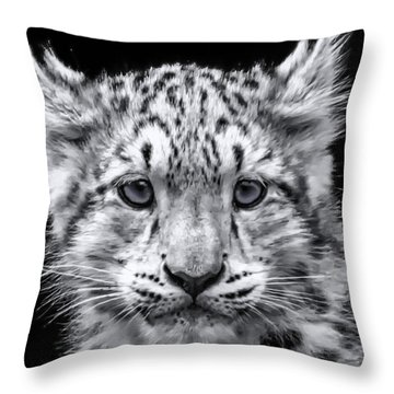 Snowcub Throw Pillow