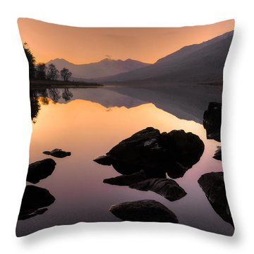 Snowdon At Dusk Throw Pillow
