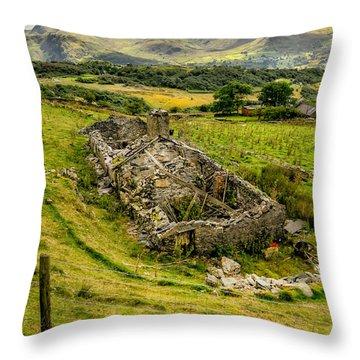 Snowdon Ruin Throw Pillow