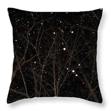 Throw Pillow featuring the photograph Snowfall by Carlee Ojeda