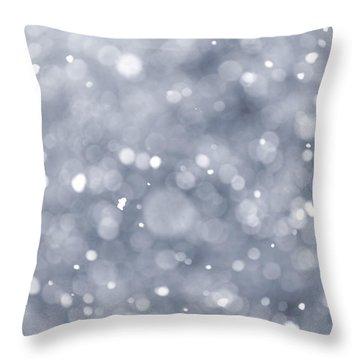Snowfall  Throw Pillow