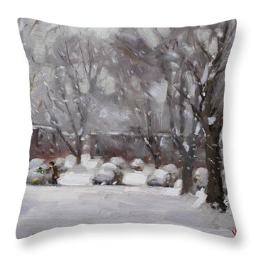 Snowfall Throw Pillows